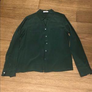Equipment Tops - Equipment signature button down blouse.